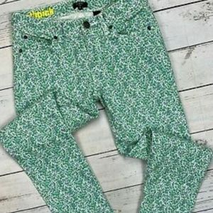 J CREW Floral Toothpick Jeans